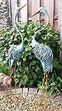 Fischreiher 2er Set Reiher Gartenfigur Teichfigur Metall Figur Tier Vogel Deko Teich