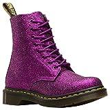 Dr.Martens Donna 1460 Pascal Glitter Glitter Pu Synthetic Purple Multi Stivali 40 EU