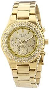 Mike Ellis New York Damen-Armbanduhr XS Analog Quarz Edelstahl beschichtet L2970AGM