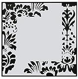 Colours mirror Spiegel 40x40 mit schwarzem Dekodruck - schwarzer schmaler Holzumrandung und stabilen Aufhängern