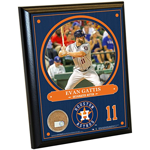 mlb-houston-astros-evan-gattis-plaque-with-game-used-dirt-from-minute-maid-park-8-x-10-navy