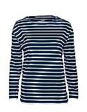 modAS Bretonisches Fischerhemd Damen, langarm - Streifenshirt, Ringels, 44, blau/weissgestreift