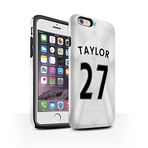 Offiziell Newcastle United FC Hülle / Glanz Harten Stoßfest Case für Apple iPhone 6 / Pack 29pcs Muster / NUFC Trikot Away 15/16 Kollektion Taylor