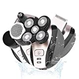 Electric Shaver Razor 5 in 1 USB Rechargeable IPX7 Waterproof Hair Beard Trimmer