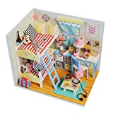 NZHSAMJ Miniatur Kits DIY Häuschen Selbstgemachtes Geschenk des hölzernen Musterhauses des...