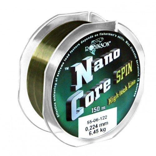 Robinson® Nano-Core Spin Angelschnur, Länge / Durchmesser / Tragkraft:0.26/150m