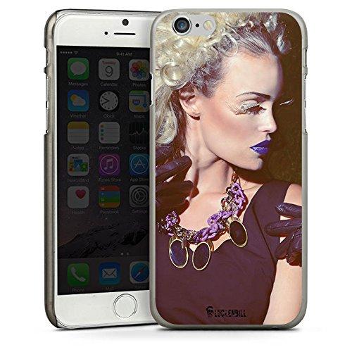 Apple iPhone 5s Housse Étui Protection Coque Femme Femme Rouge à lèvres CasDur anthracite clair