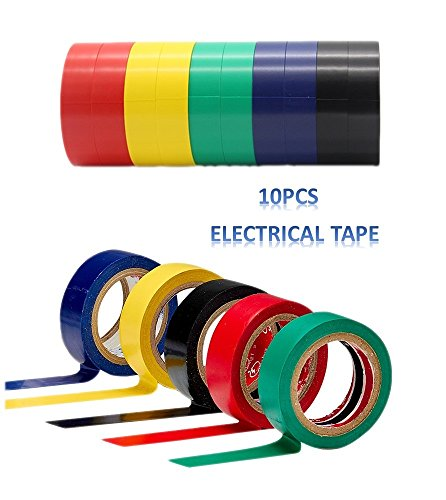 diketer-10pcs-pvc-insulating-electrical-tape-mixed-colour-06-inch-wide-x-23-feet-long-15-mm-x-7-m