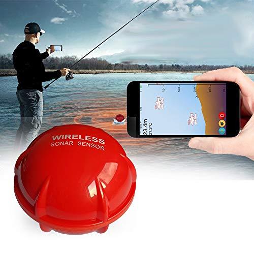 QYLT Fischfinder Intelligenz Sonar, Bluetooth Smart Echolot Fischfinder - Karpfen und Nachtfischen