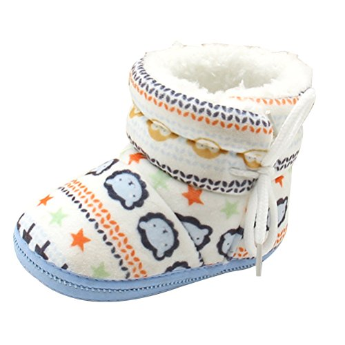 Zhuhaitf Ausgezeichnet Toddler Soft Boots Baby Soft Sole Snow Boots Warm Crib Shoes hz001 Blue