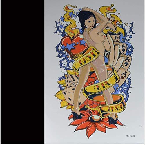 ruofengpuzi Tattoo AufkleberSexy Frau 3D Tattoo Tätowierung Aufkleber Flash Tattoo Sex Männer und Frauen General Arm Body Art Exotic Make-up