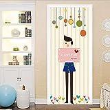 Haipeiy Türaufkleber Cartoon Whale Door Decor Aufkleber für Kinder Schlafzimmer Kinderzimmer Removable Quote Vinyl Wandbild Wasserdicht Aufkleber