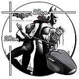 Batman Arkham City Harley Quinn B Tappetino per Mouse Tondo Round Mousepad PC