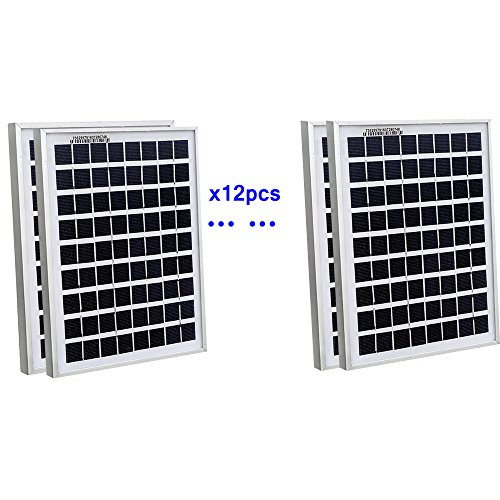 ECOWORTHY 60Watt 12pcs 5W Watt Solar Panel Ploy Solar Module 12V Battery Charger for Caravan Boat Power - Linear Battery Charger Controller