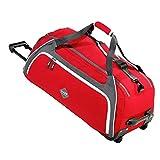 Sac de sport 80L ou Sac de Voyage à roulettes Sac de Gym grand format Rouge