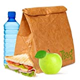 New Reusable Paper Lunch Bag Box SUPER S...