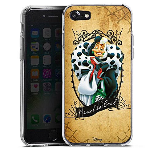 Apple iPhone X Silikon Hülle Case Schutzhülle Disney 101 Dalmatiner Cruella de Vil Geschenk Merchandise Silikon Case transparent
