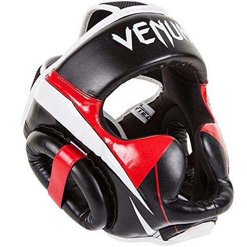 Venum Elite–Protector de cabeza, negro /rojo
