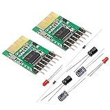 MakerHawk 2pcs Bluetooth Receiver Board 5V Wireless Stereo Music Module 4.0 Audio