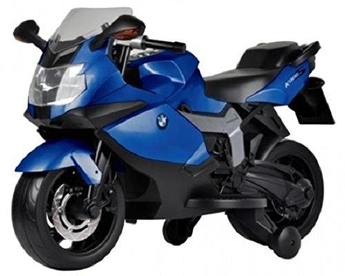 BABYCAR 283bl–Moto eléctrica para niños BMW K 1300S con ruedas incluidas, 12V, azul