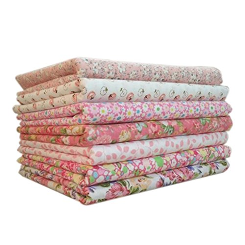 Timlatte 7pcs/Set Cotton Fabric for Sewing Quilting Patchwork Home Textile Pink Series Tilda Doll Body Cloth Serie Textil