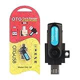 MIUSON Micro USB Stecker auf Micro SD Kartenleser 2in1 OTG für PC Samsung S7 Xiaomi Huawei