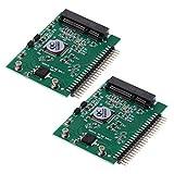 D DOLITY 2X MSATA SSD Zu 2.5inch 44Pin Stecker IDE HDD Adapter Konverter Karte Für Laptop