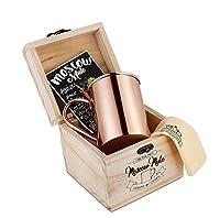 Handgemachtes Kupferbecher Geschenkset | Original Copper Mug | 100% Kupfer | Moscow Mule Cocktail