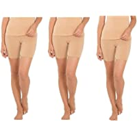 REGALIA PROCOT Women's Shorts Tights Cotton Lycra Cycling Under Skirt, Swimming, Yoga, Gym 4 Way Stretchable Fabric…