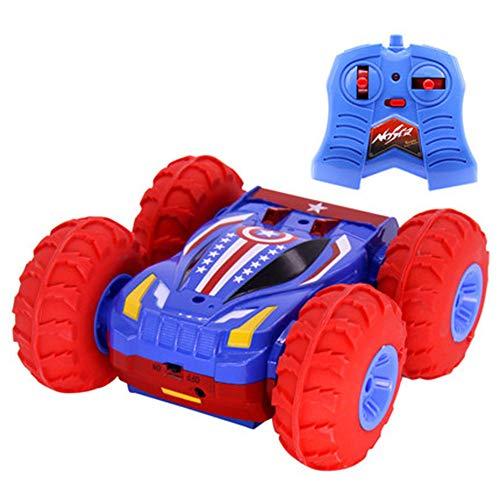 NKnk 360 Grad-Drehungen und Flips Stunt-Spielzeugauto Doppelseitiges Spielzeug-Geländewagen-Erdbebenschutz Umweltschutz Elektrischer Rennsport 2,4 GHz 4WD Funkfernsteuerung Buggy Geschenk für Kinder