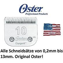 """Samsebaer Edición: Todos Los Tamaños de original OSTER """"Snap On"""" Juego de corte para entre otros MOSER Max 45 + Max 50, Aesculap, OSTER y Andis. modelos ver descripción - Size 10, 1,5mm,"""