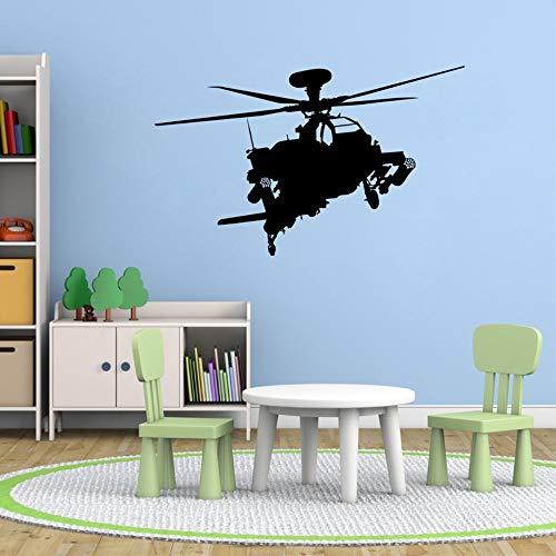 Apache Hubschrauber Vinyl Wandtattoo Aufkleber Kinder Flugzeug Gun Art Decor 56X32Cm