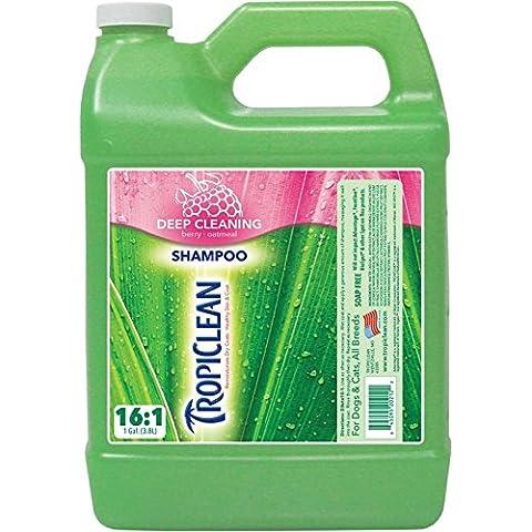 TropiClean Berry & Coconut Deep Cleaning Pet Shampoo, 1 Gallon