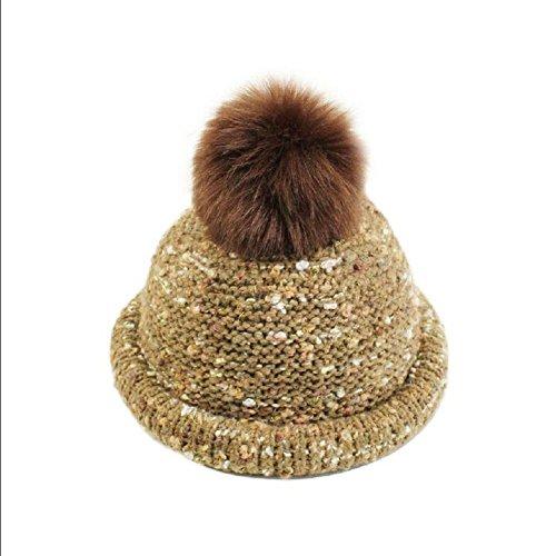 YYH Damen M?dchen Winter Stretch Knit Cap Slouchy Beanie M¨¹tze , 1# (Knit Leather Baggy)