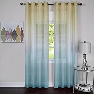 Achim Home Furnishings Rainbow Grommet Window Curtain Panel, 52 by 84