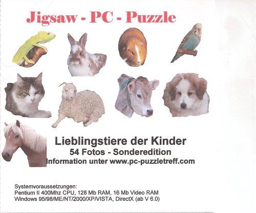 PC Puzzle mit 54 Fotos von den Liebliengstieren der Kinder - Puzzle Hund Saw Jig