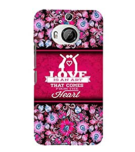 Love Is An Art 3D Hard Polycarbonate Designer Back Case Cover for HTC One M9+ :: HTC One M9 Plus