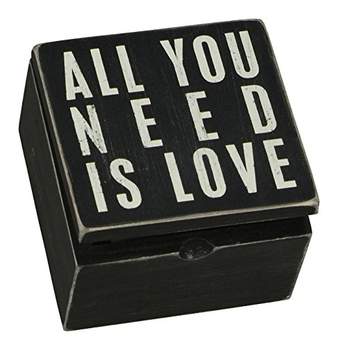 Primitives by Kathy 17935 - Scatola di legno con messaggio d'amore in inglese: All You Need Is Love
