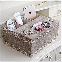 ACZH Caja de Pañuelos Sala de Estar Multifunción Control Remoto Caja de Almacenamiento Mesa de Café