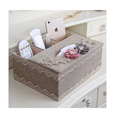 CZH Tissue Box Wohnzimmer Multifunktions Fernbedienung Aufbewahrungsbox Couchtisch Tuch Papier Box Serviettenschale Haushalt Papier Pumpen,Kaffee,24 * 20 * 11 5