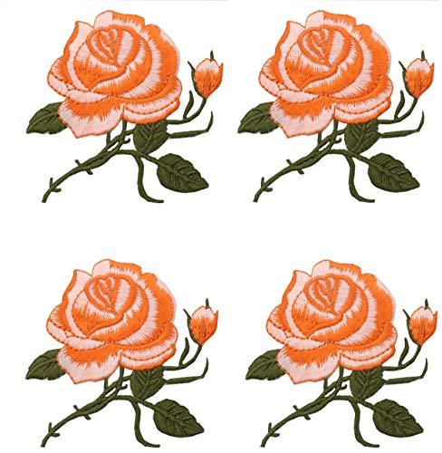 4 STÜCKE Stickerei Eisen auf Flecken für Kleidung Applique DIY Hut Mantel Kleid Hosen Zubehör Tuch Aufkleber Appliques DIY Zubehör