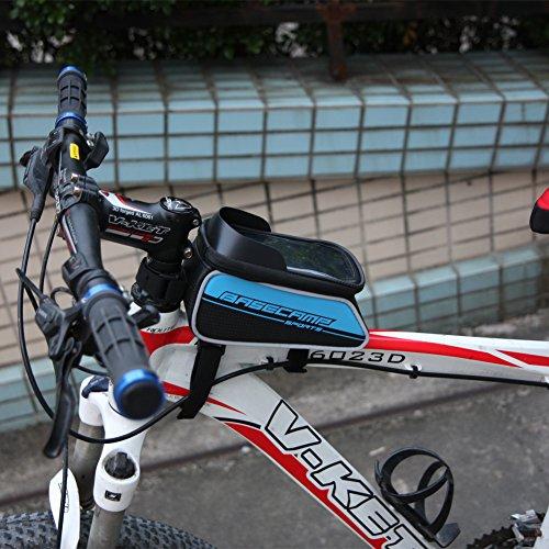 speedspo Wasserdicht Fahrrad Rahmentasche, unten 6.0 Zoll Blau