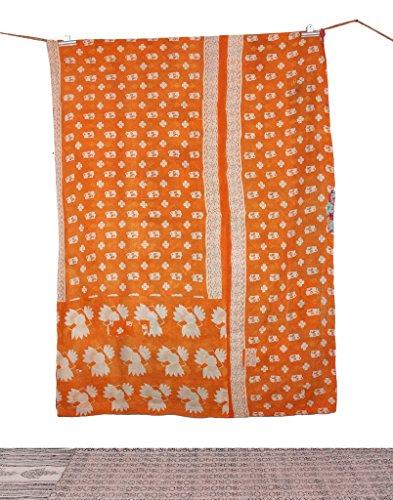 Reversibile cotone indiano trapunta/IKAT kantha Quilt Textile/vintage kantha throw, Cotton Bangali