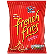 Walkers French Fries Ready Salted Crispy Potato Snack 21 g (Pack of 32)