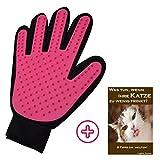 TaliTatz Katzenbürste mit Massage-Effekt die schonende Fellpflege und Haarentfernung bei Katzen. Dieser Fell-Handschuh entfernt lose Haare / Fellwechsel und eignet sich für ALLE Haustiere. Die 180 Silikon-Noppen massieren sanft den Katzenkörper wie ein Katzenkamm Katzenpflege deluxe (pink)