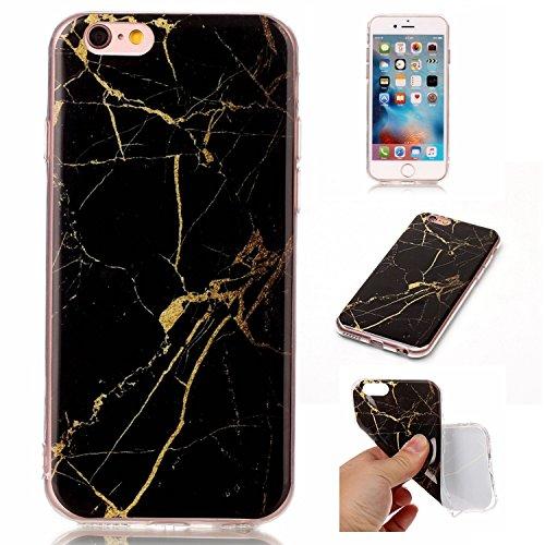 Für Apple IPhone 6 6s Fall Marmorierung Textur Weiche TPU Abdeckung Slim Ultra Thin Anti-Kratzer Schock Absorption schützende rückseitige Abdeckung Shell ( Color : M ) D