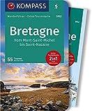 KOMPASS Wanderführer Bretagne, vom Mont-Saint-Michel bis Saint-Nazaire: Wanderführer mit Extra-Tourenkarte 1:50000, 55 Touren, GPX-Daten zum Download. - Michael Will