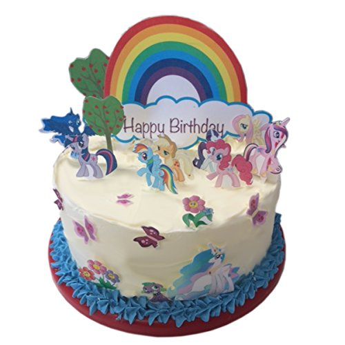 my-little-pony-happy-birthday-scene-edible-wafer-paper-cake-toppers