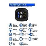 BEESCLOVER m3Pneumatico Display LCD TPMS Sistema di monitoraggio della Pressione dei Pneumatici 2sensore Esterno Wireless Moto Auto sistemi di Allarme