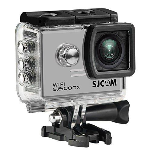 16GB TF-Karte + SJCAM SJ5000X Elite Sport Action Kamera Ultra 5,1 cm LTPS WiFi 4 K 24 FPS 2 K30fps Kreisel Sport DV 2.0 LCD ntk96660 Tauchen 30 m Wasserdicht Action Kamera(Sliver)